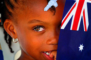 Child with Australian flag [prpix]